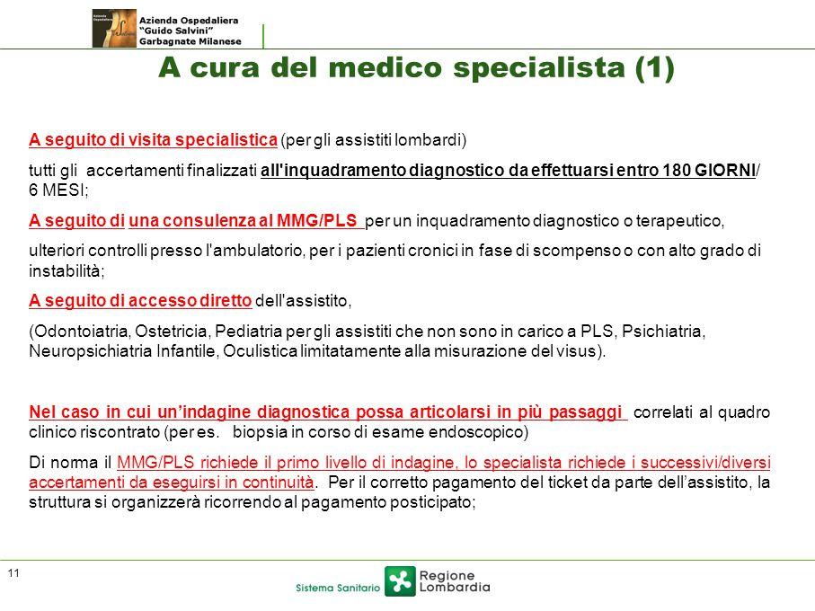 A cura del medico specialista (1)