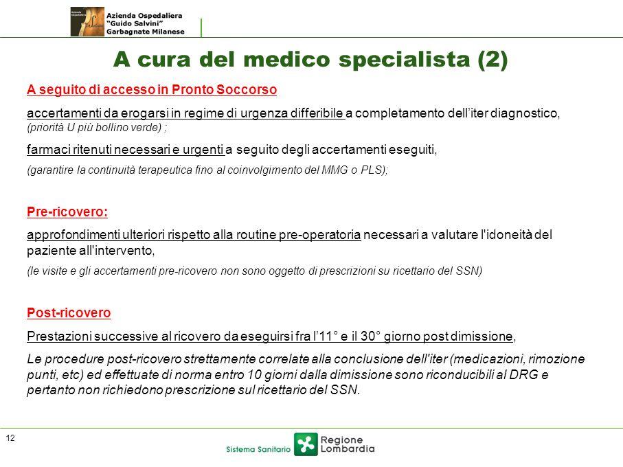A cura del medico specialista (2)