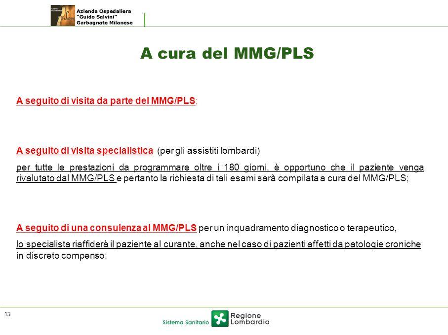 A cura del MMG/PLS A seguito di visita da parte del MMG/PLS;