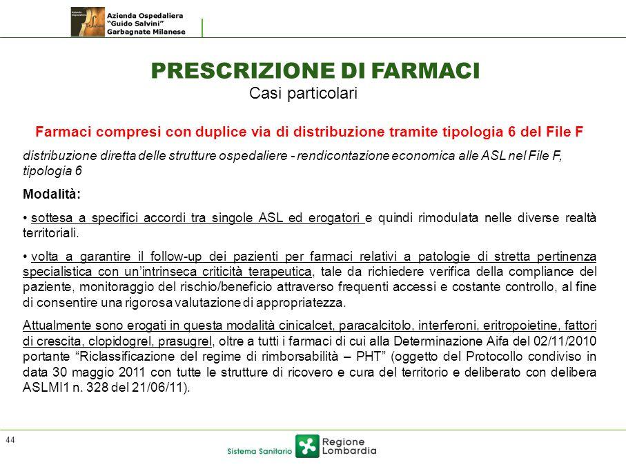 PRESCRIZIONE DI FARMACI