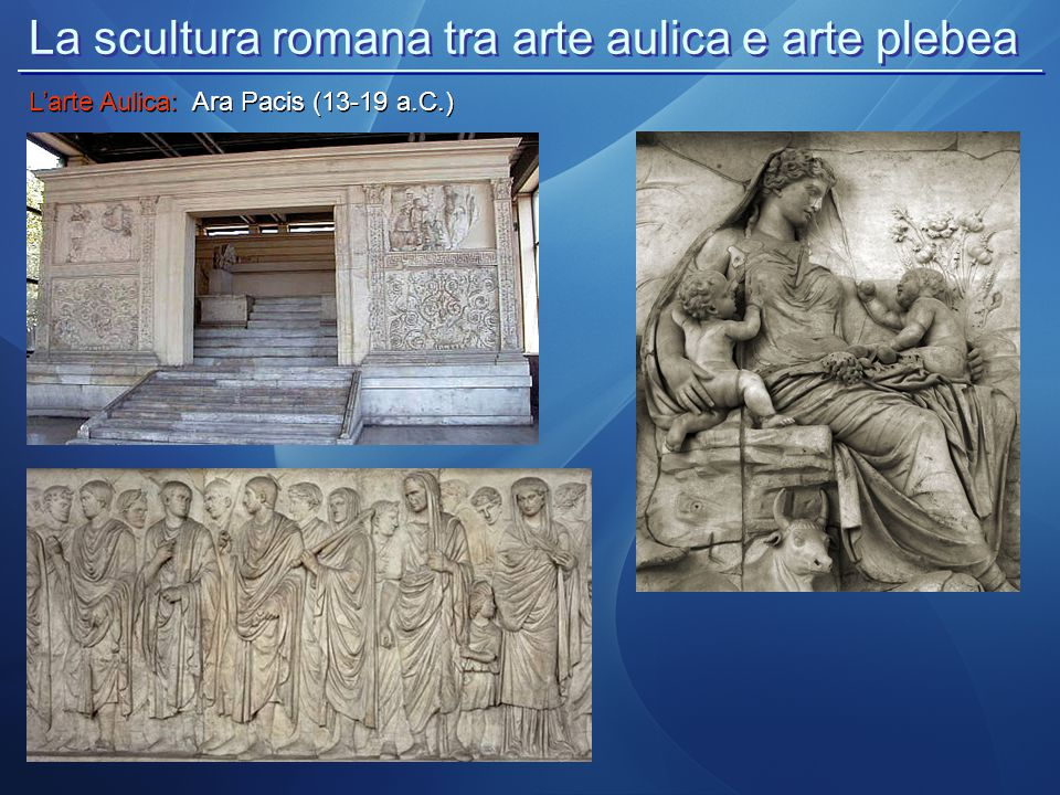 La scultura romana tra arte aulica e arte plebea