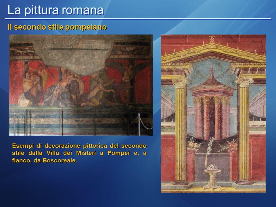 La pittura romana Il secondo stile pompeiano