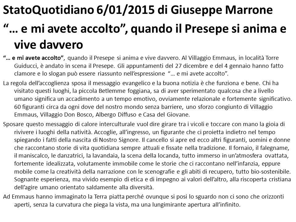 StatoQuotidiano 6/01/2015 di Giuseppe Marrone