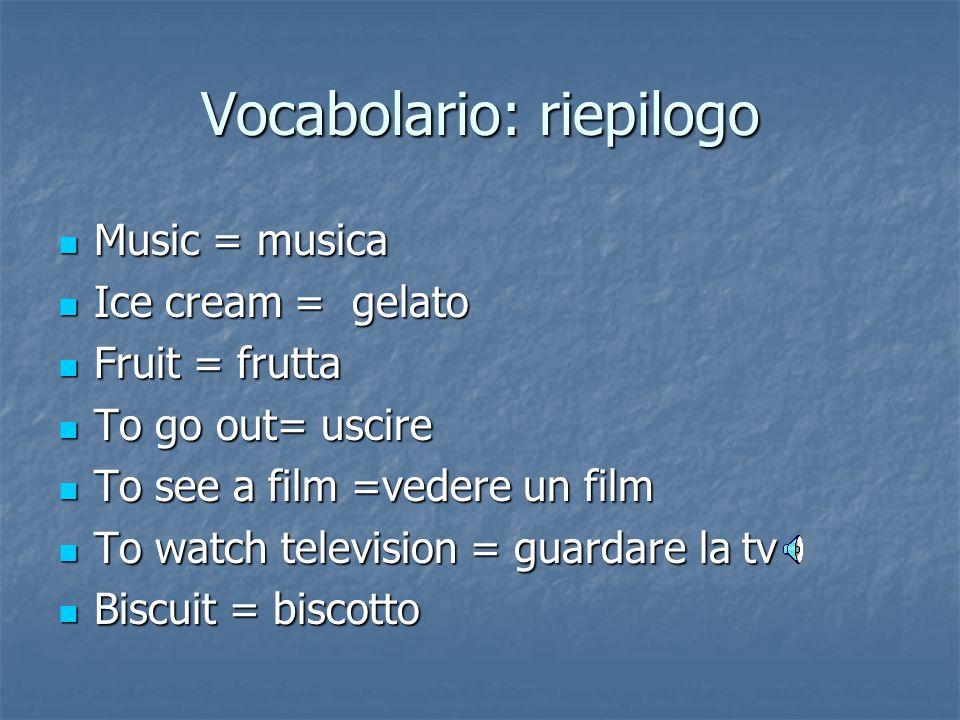 Vocabolario: riepilogo