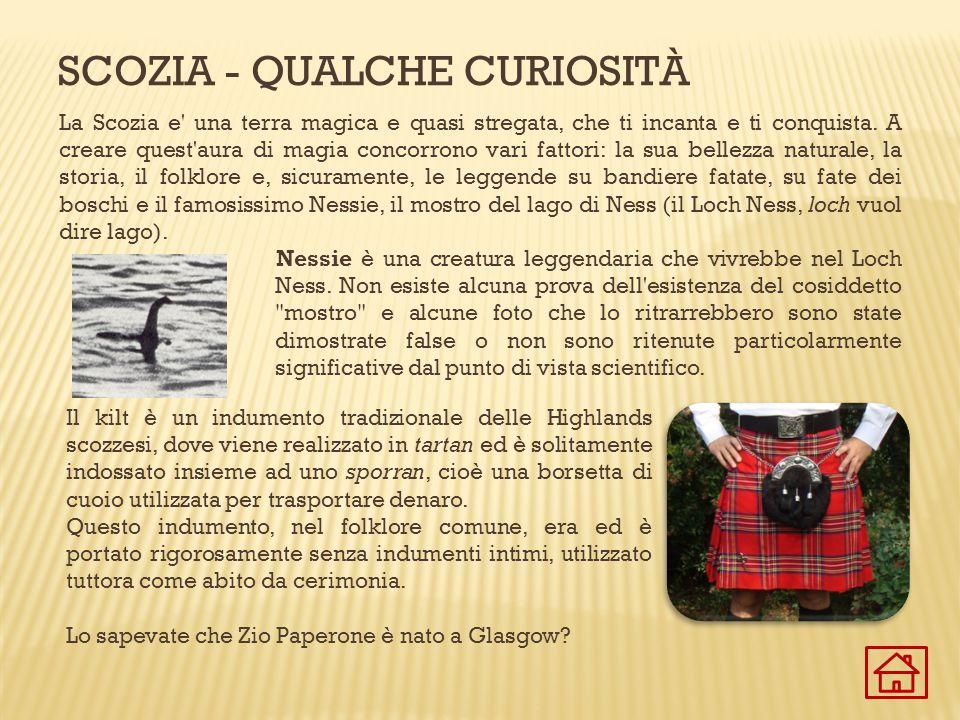 Scozia - Qualche curiosità