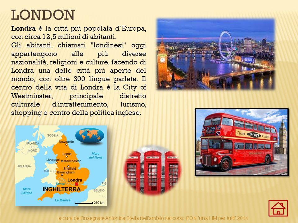 london Londra è la città più popolata d'Europa, con circa 12,5 milioni di abitanti.