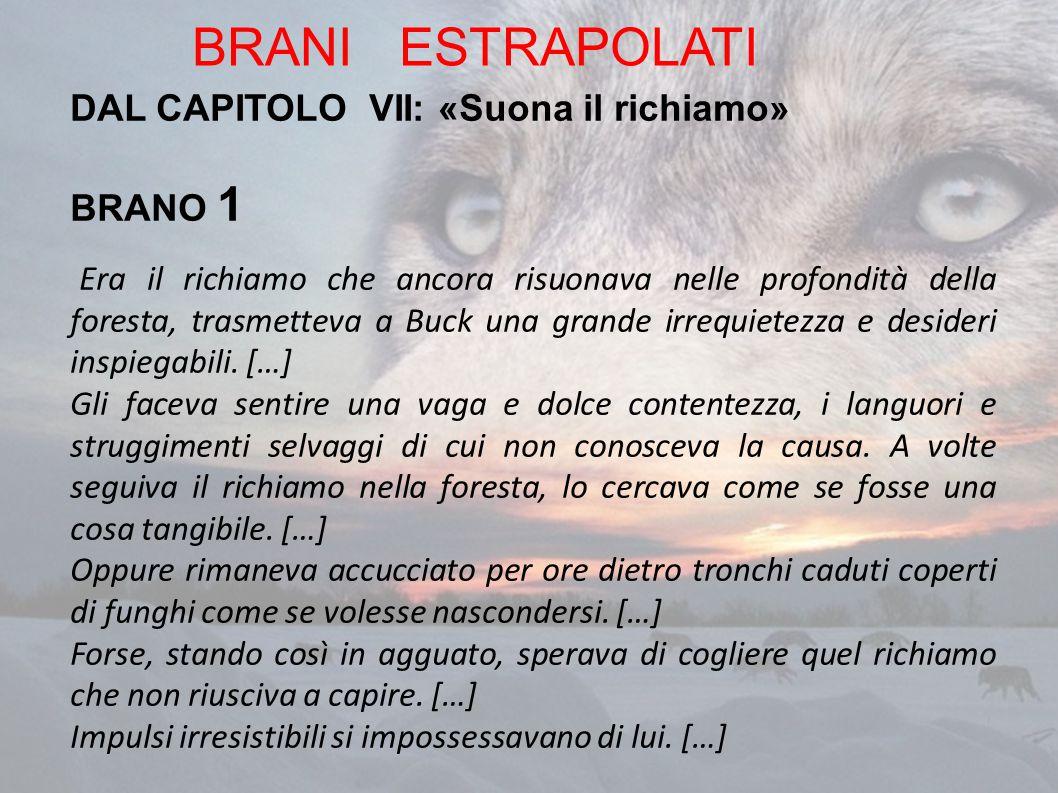 BRANI ESTRAPOLATI DAL CAPITOLO VII: «Suona il richiamo» BRANO 1