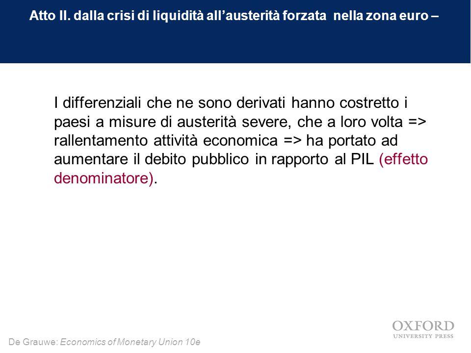 Atto II. dalla crisi di liquidità all'austerità forzata nella zona euro –