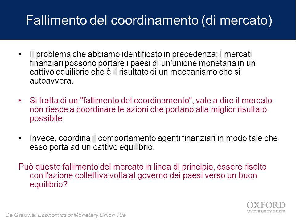 Fallimento del coordinamento (di mercato)