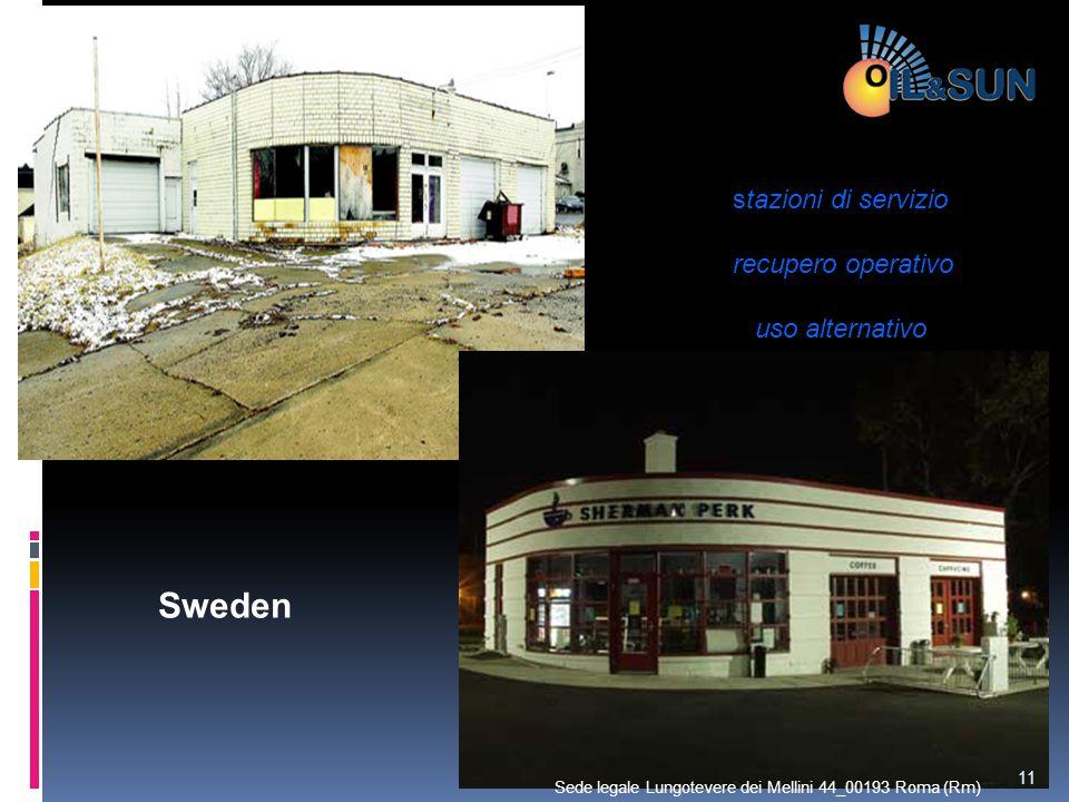 Sweden stazioni di servizio recupero operativo uso alternativo