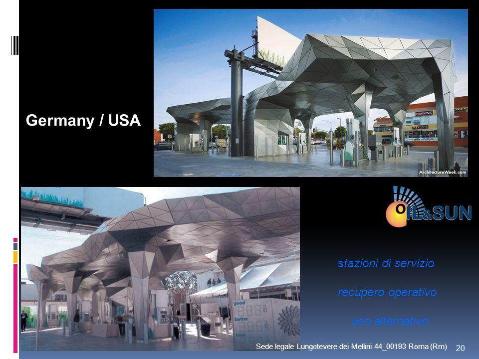 Germany / USA stazioni di servizio recupero operativo uso alternativo