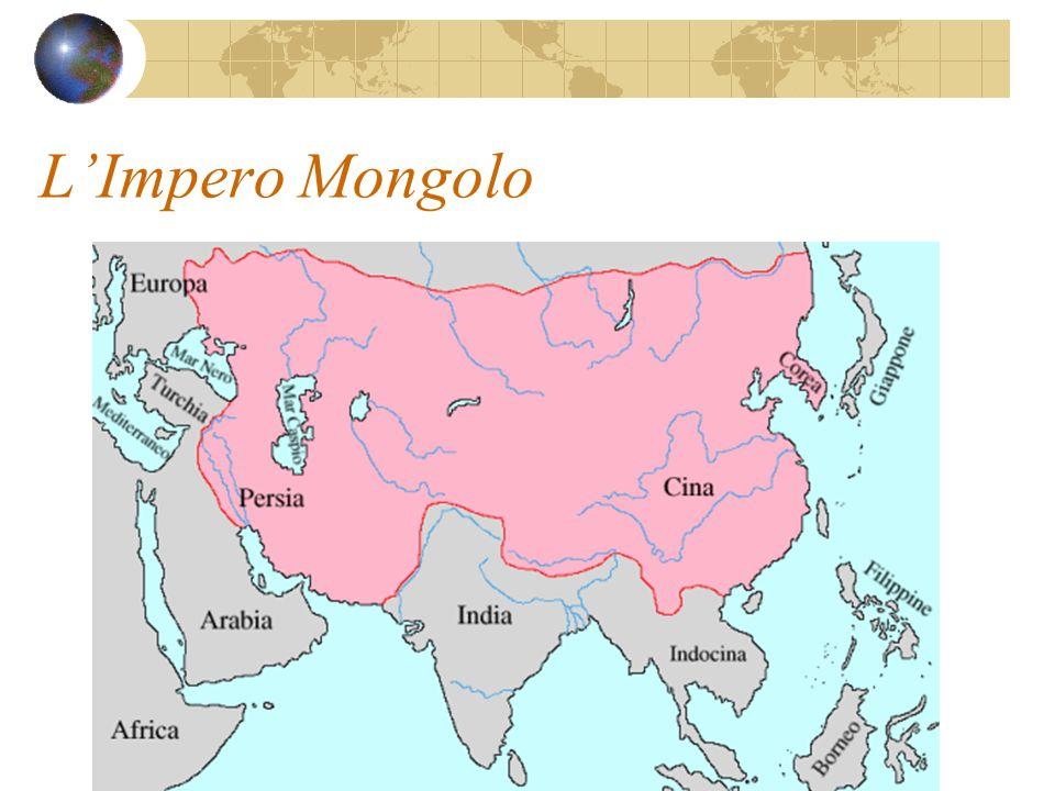 L'Impero Mongolo Quando Gengis Khan realizzò il suo immenso impero (metà del 1200) i viaggi furono di nuovo sicuri.