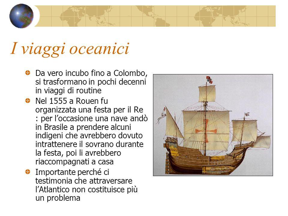 I viaggi oceanici Da vero incubo fino a Colombo, si trasformano in pochi decenni in viaggi di routine.