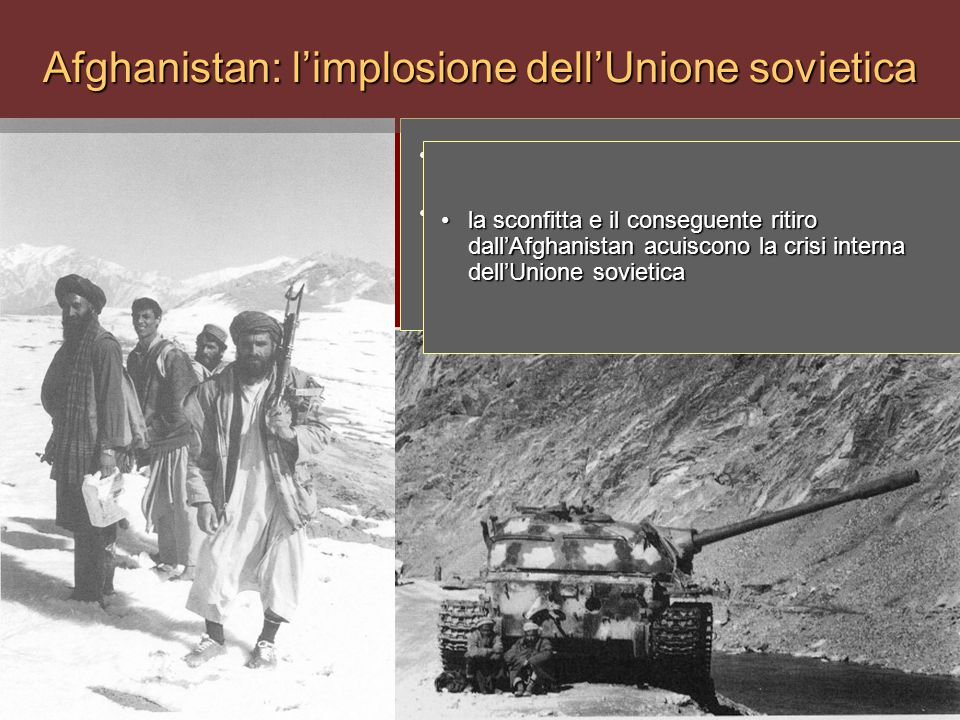 Afghanistan: l'implosione dell'Unione sovietica