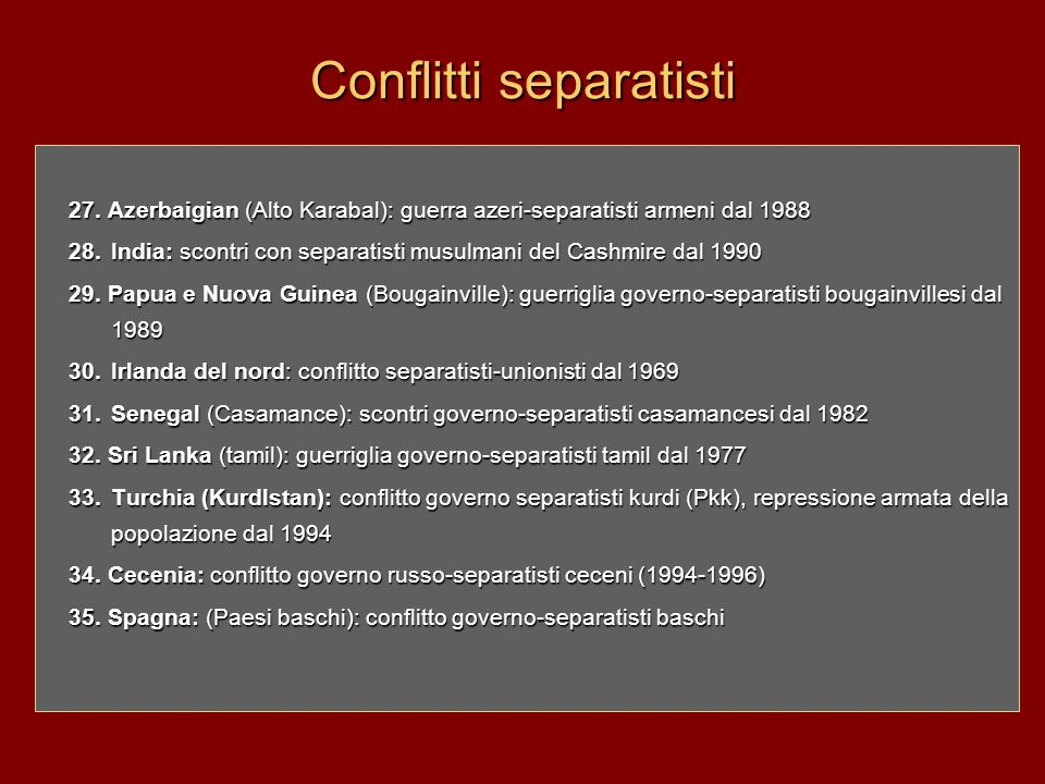 Conflitti separatisti