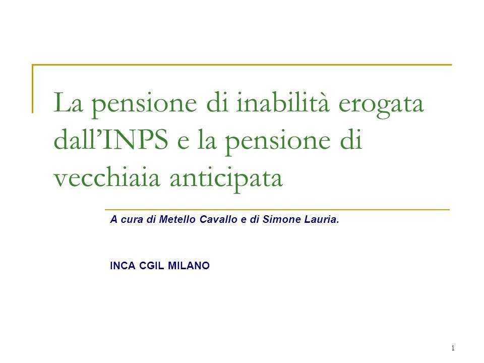 A cura di Metello Cavallo e di Simone Lauria. INCA CGIL MILANO