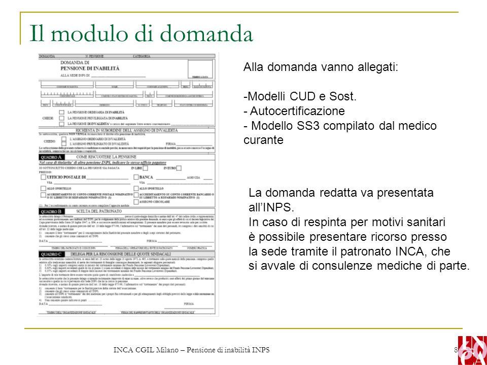 INCA CGIL Milano – Pensione di inabilità INPS