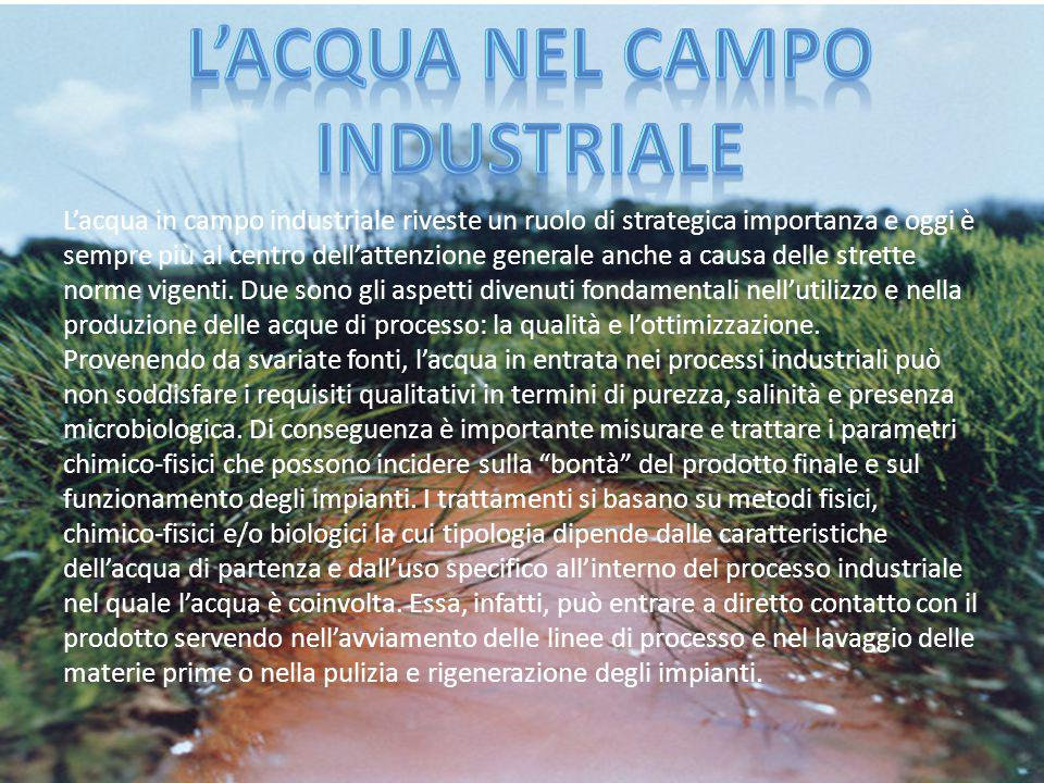L'Acqua nel campo industriale