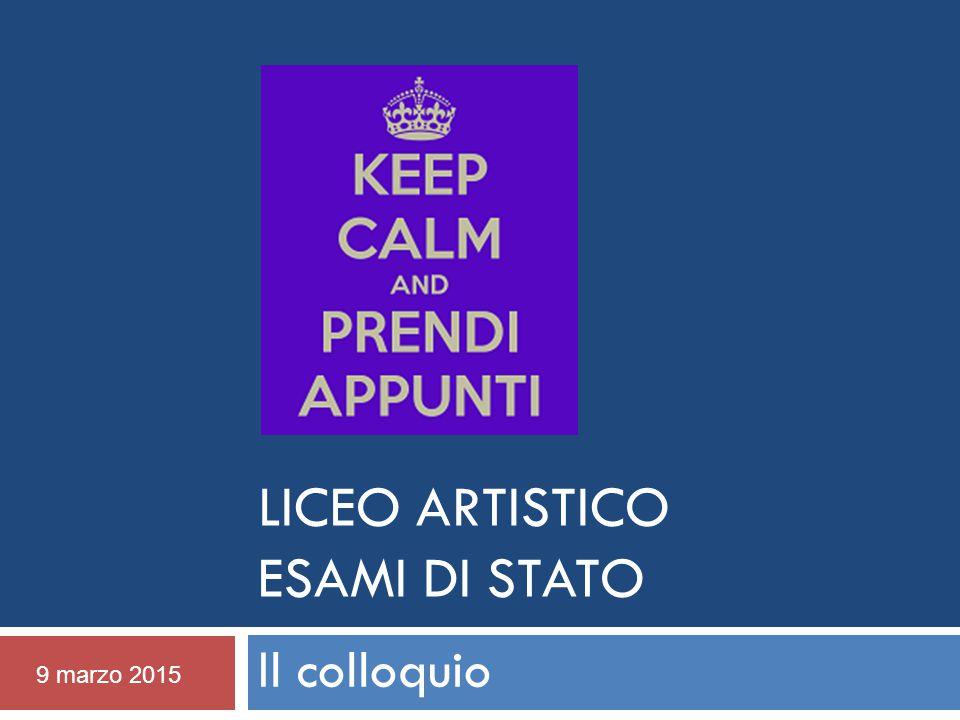 Liceo Artistico ESAMI DI STATO