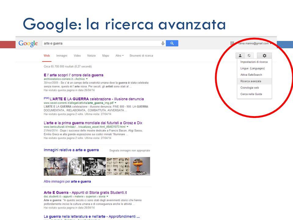 Google: la ricerca avanzata