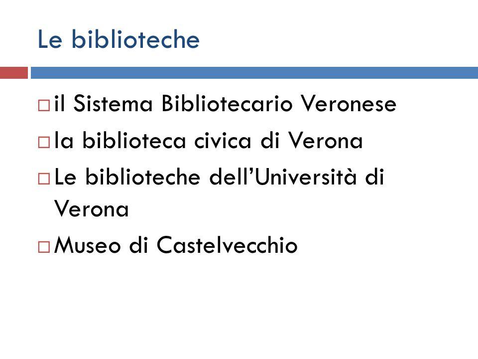 Le biblioteche il Sistema Bibliotecario Veronese