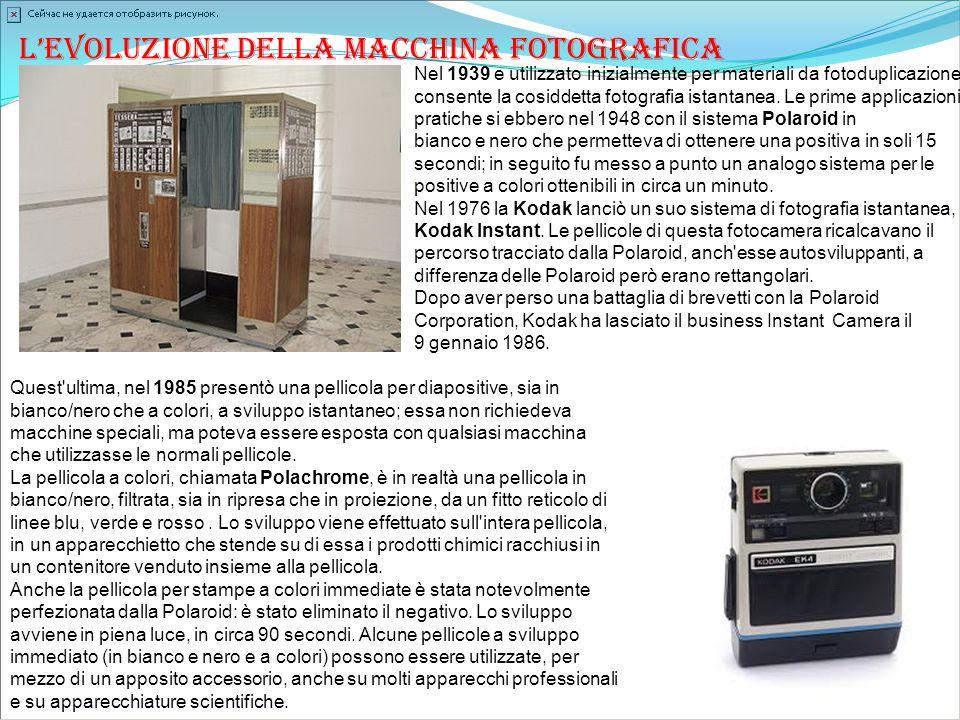 L'evoluzione della macchina fotografica