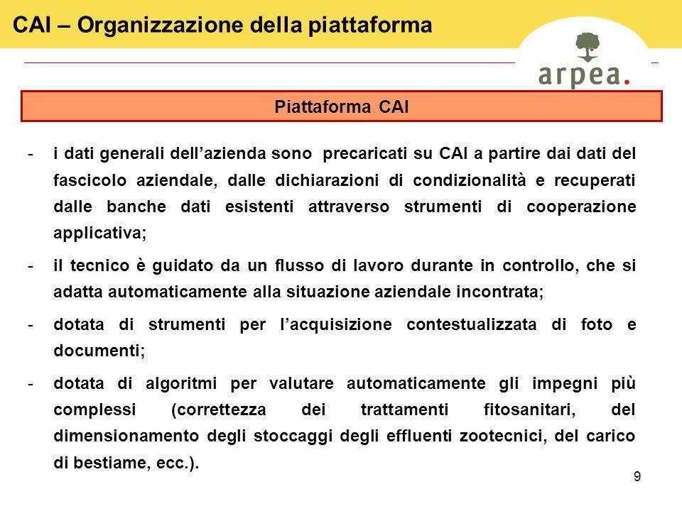 CAI – Organizzazione della piattaforma