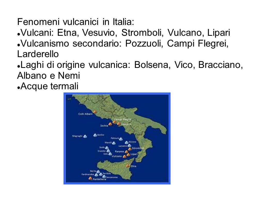 Fenomeni vulcanici in Italia: