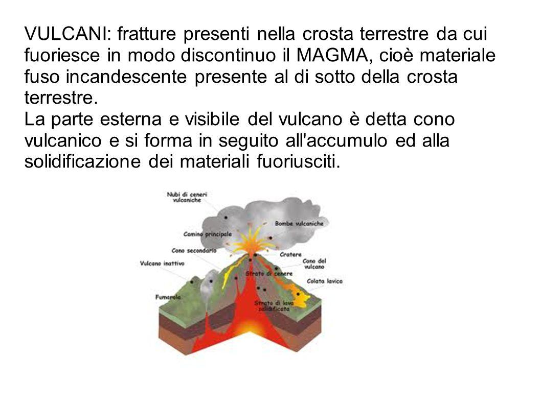 VULCANI: fratture presenti nella crosta terrestre da cui