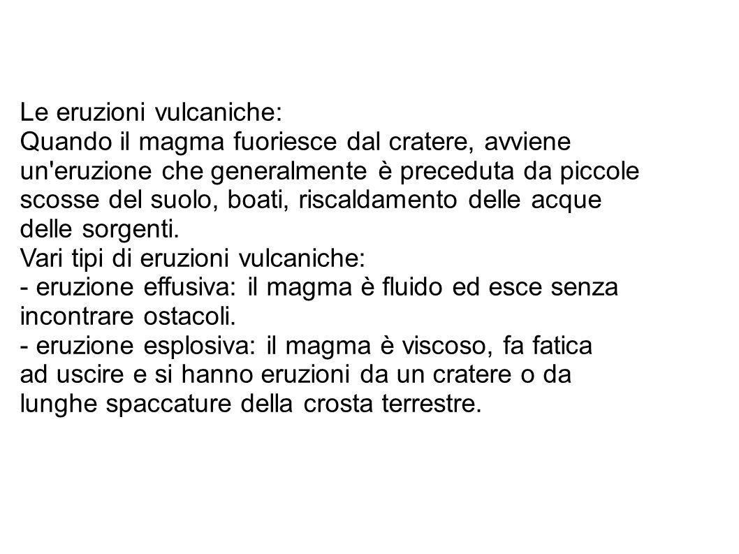 Le eruzioni vulcaniche: