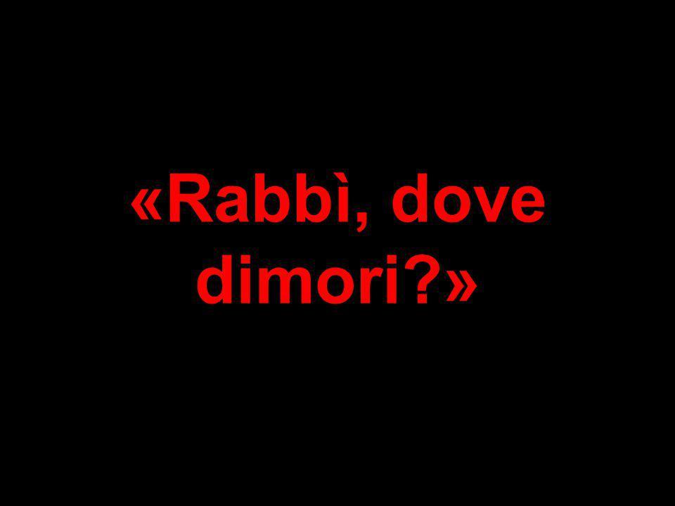 «Rabbì, dove dimori »