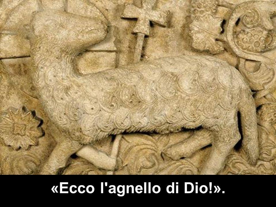 «Ecco l agnello di Dio!».