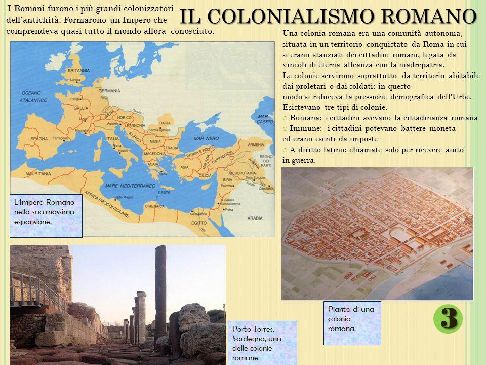 IL COLONIALISMO ROMANO