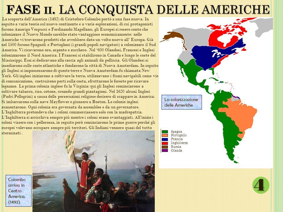 FASE ii. LA CONQUISTA DELLE AMERICHE