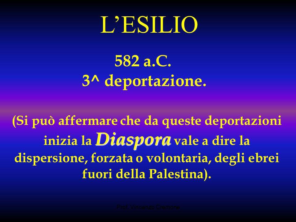 L'ESILIO 582 a.C. 3^ deportazione.