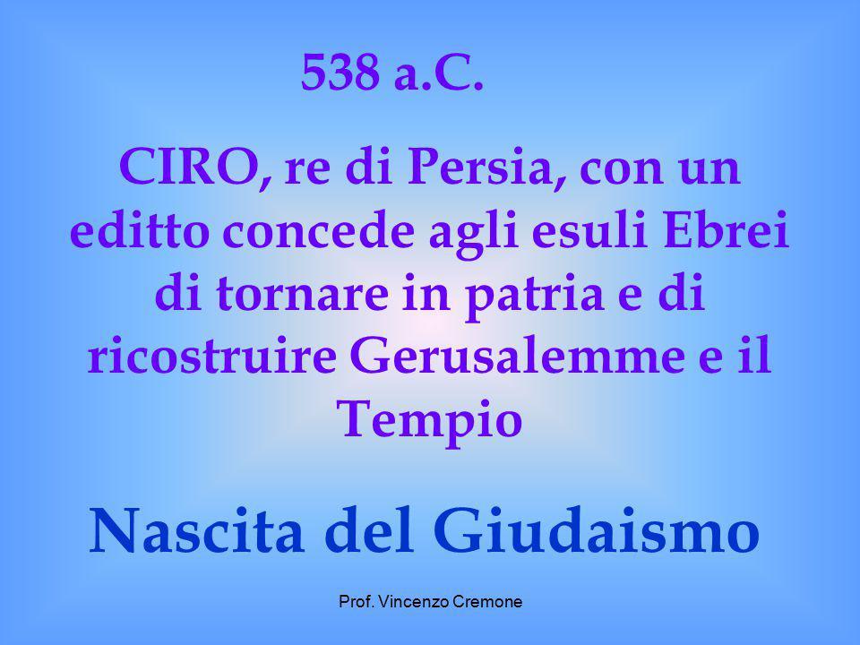 Nascita del Giudaismo 538 a.C.