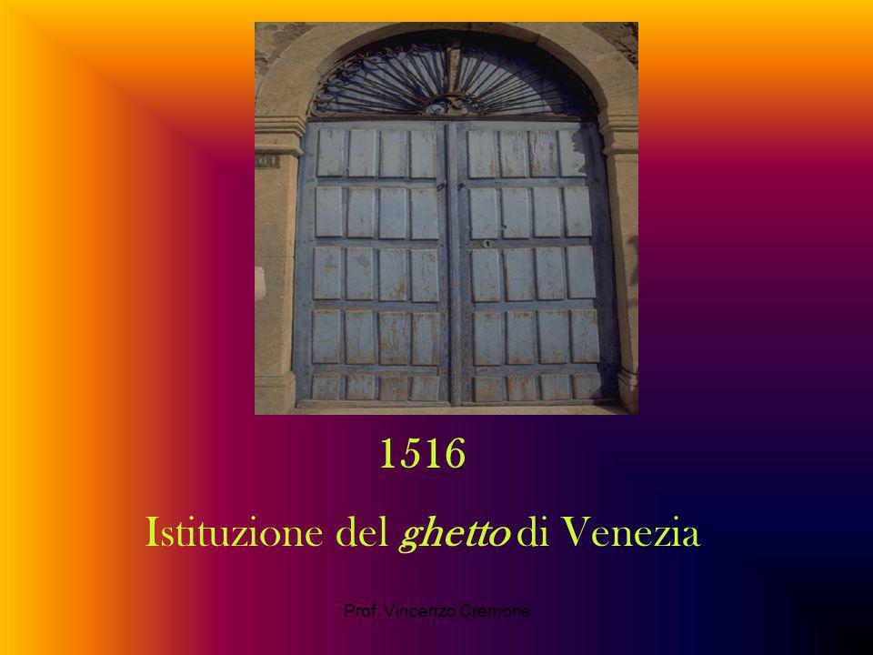 Istituzione del ghetto di Venezia