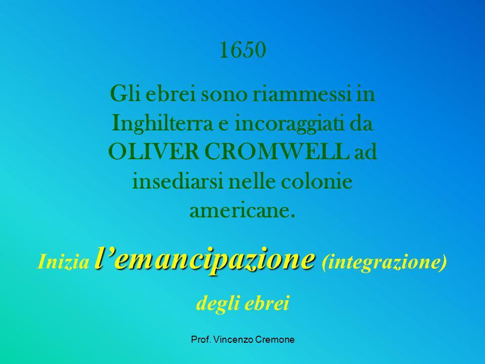 Inizia l'emancipazione (integrazione)