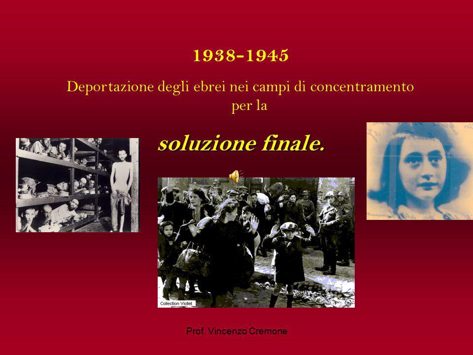 Deportazione degli ebrei nei campi di concentramento per la