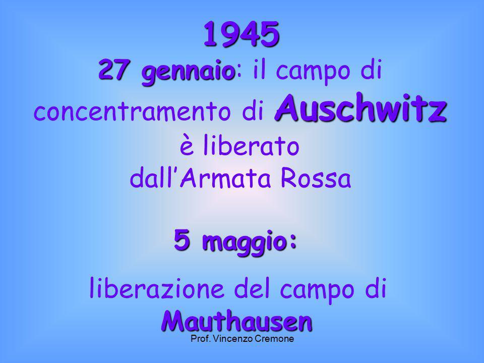 1945 27 gennaio: il campo di concentramento di Auschwitz è liberato