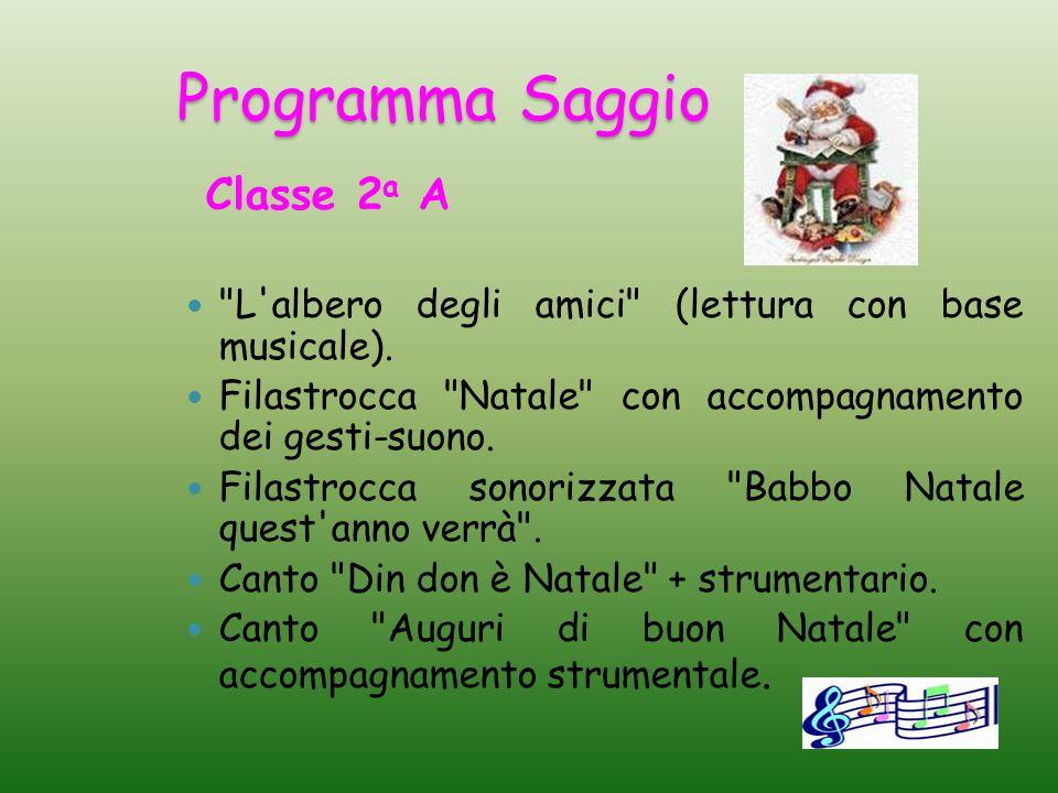 Programma Saggio Classe 2a A