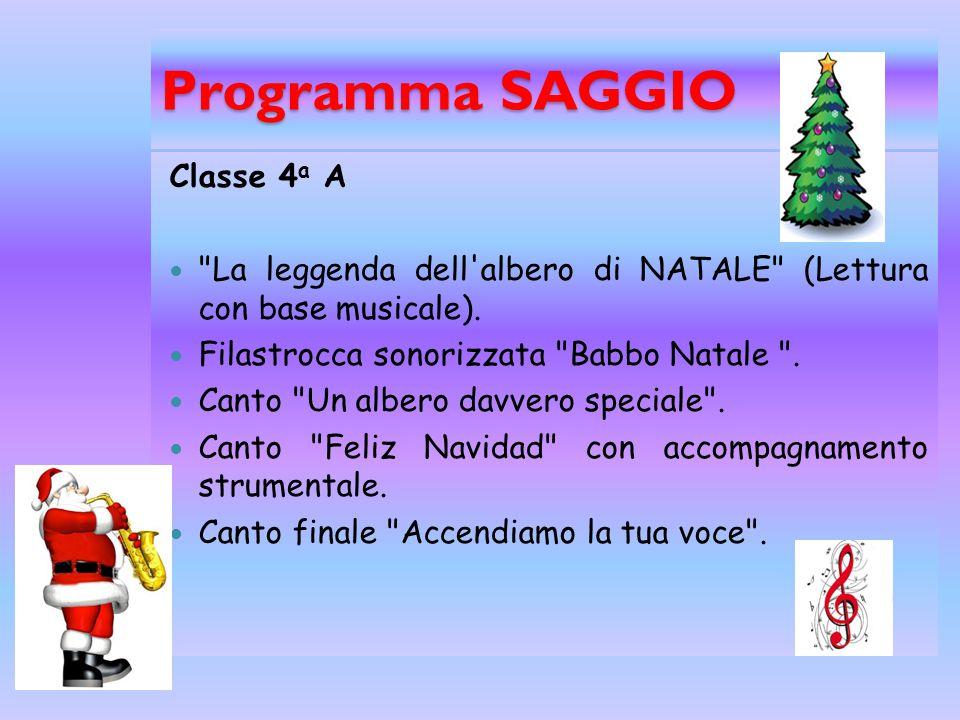 Programma SAGGIO Classe 4a A