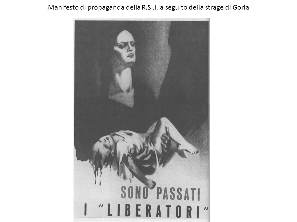 Manifesto di propaganda della R.S .I. a seguito della strage di Gorla