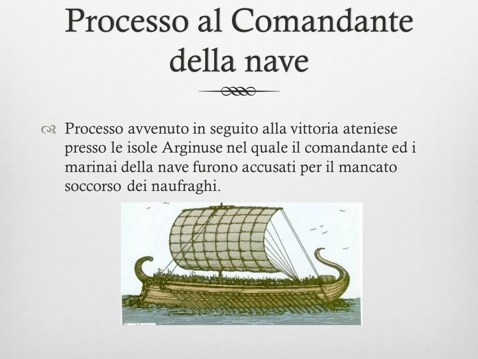 Processo al Comandante della nave