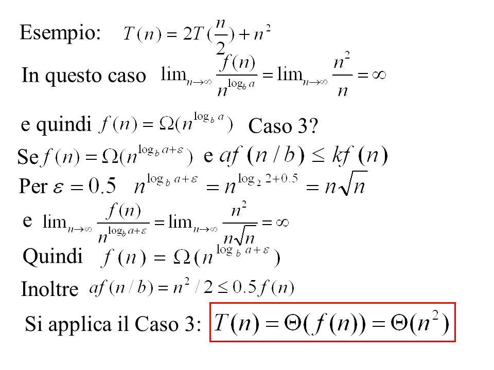 Esempio: In questo caso e quindi Caso 3 Se e Per e Quindi Inoltre Si applica il Caso 3: