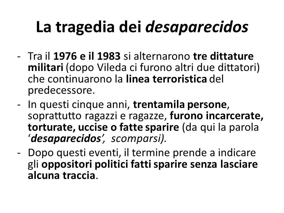 La tragedia dei desaparecidos