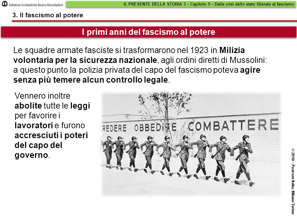 I primi anni del fascismo al potere