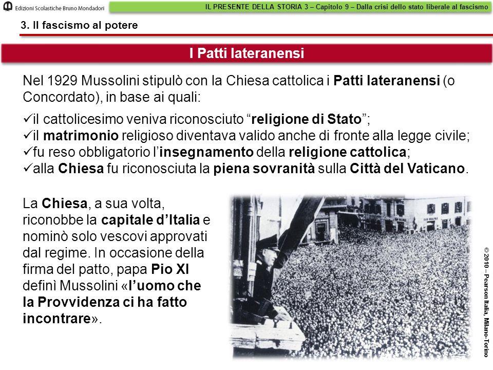 il cattolicesimo veniva riconosciuto religione di Stato ;