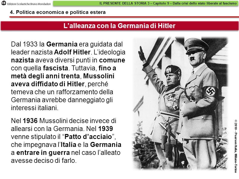 L'alleanza con la Germania di Hitler