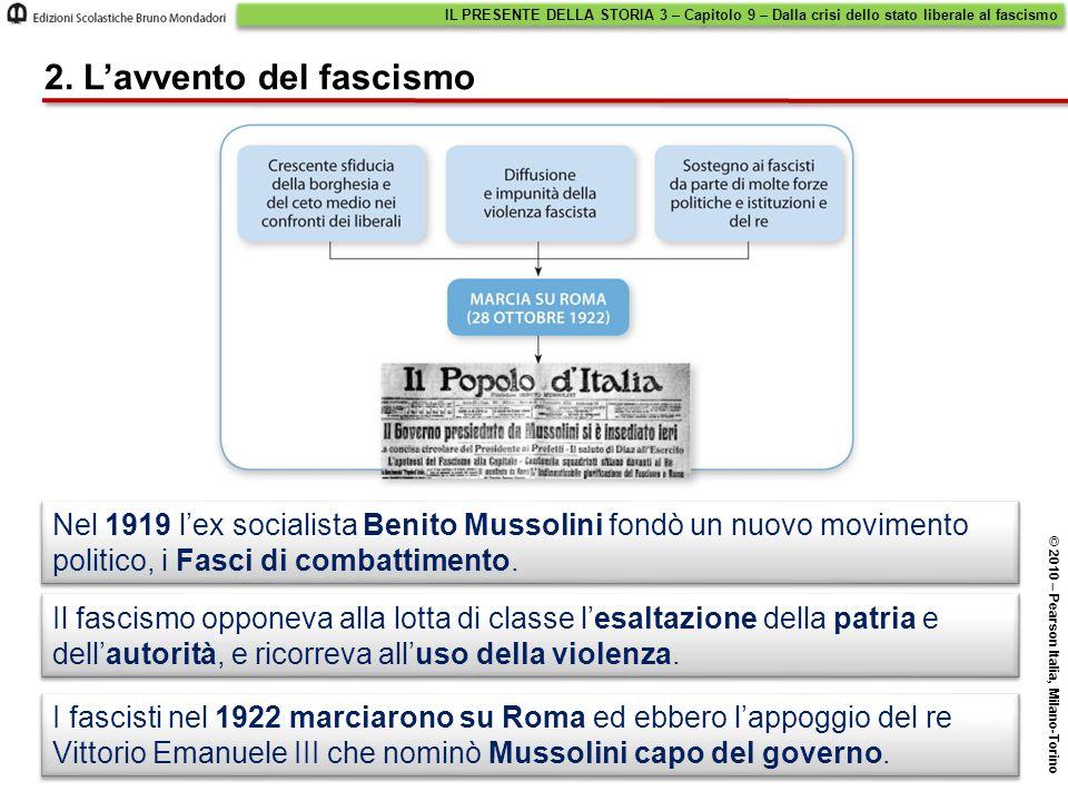 2. L'avvento del fascismo